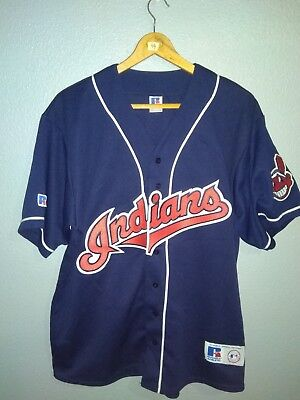 Tshirt Baseball MLB Cleveland Indians Russell Athletic Size XXL Made In Canada