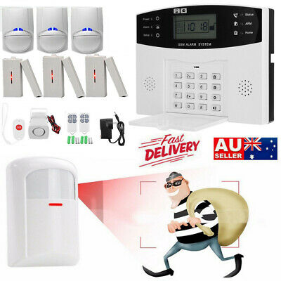 AU GSM Wireless Home Security Alarm Burglar System Motion Window Sensor Detector