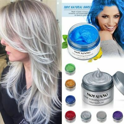 7 Colors Hair Color Pomades MOFAJANG Wax Mud Dye Styling Cream Disposable New
