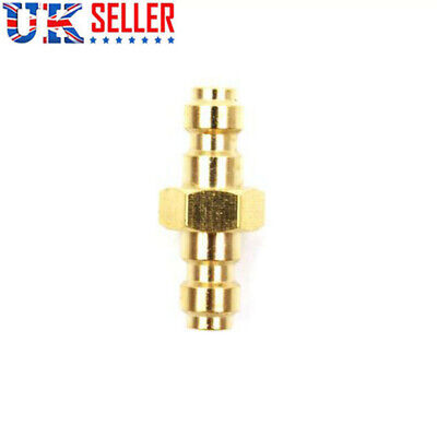 8mm Dual Male Stainless Steel Quick Disconnect Adaptor Foster Fitting Gold UK