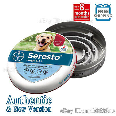 Bayer Seresto Flea and Tick Collar for Large Dog, Safe & Effective Collar
