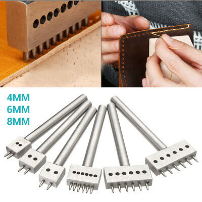 Leather Craft 1.0mm Round Hole Row Punch Stitching Cutter Tool 4.0-8.0mm