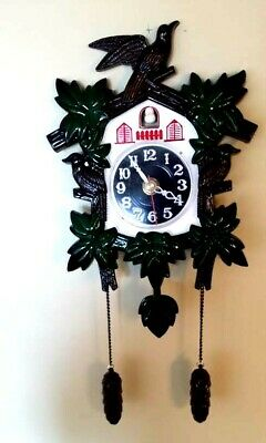 VINTAGE Jobar's musical quartz cuckoo clock JC980  MUSICAL