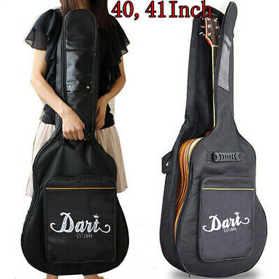 40/41'' Classical Acoustic Guitar Back Pack Carry Case Gig Bag Dual Strap Padded