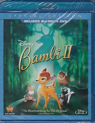 Bambi II (Blu-ray/DVD, 2011, 2-Disc set, Special Edition) NEW!