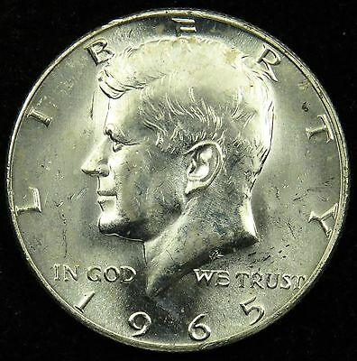 1965 Uncirculated 40% Silver Kennedy Half Dollar (B05)