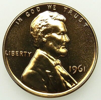 1961 Proof Lincoln Memorial Cent Penny (B03)