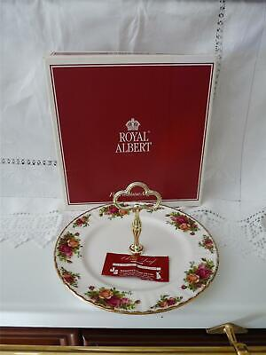 Royal Albert Old Country Roses  1 Tier Cake Stand Unused With Box