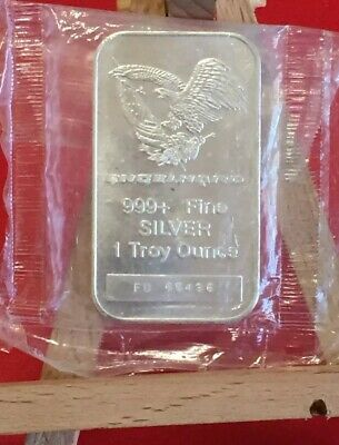 Engelhard 1 Troy Ounce .999 Fine Silver Bar Numbered & Sealed