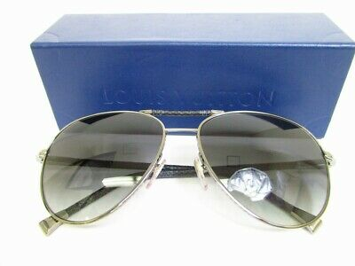 cabf7f676d51 Auth LOUIS VUITTON Damier Graphite Sunglasses Eye Wear Conspiration Pilot   7215
