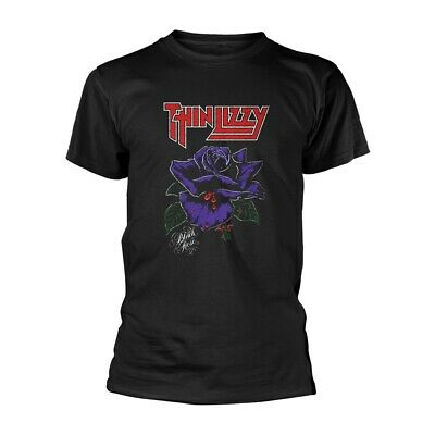THIN LIZZY T-Shirt Black Rose All Sizes NEW OFFICIAL Logo Phil Lynott Gary Moore