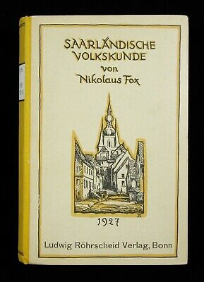 BOOK Folk Culture Saarland Germany folklore history old village photos dialect