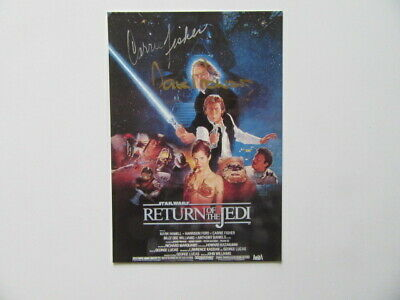 """Carrie Fisher & Dave Prowse   """"Star Wars""""      original Autogramm     Toll!!!!!!"""