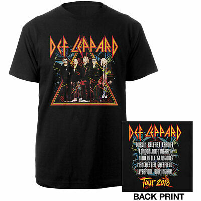 DEF LEPPARD T-Shirt Photo Tour 2018 (2-Sided) All Sizes NEW OFFICIAL Hysteria
