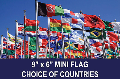 """United Nations UN Flag mini small 9/""""x6/"""" 22cm x 15cm Polyester Sleeved Projects"""