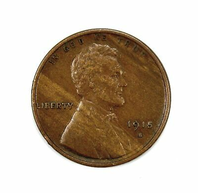 1915 S 1c Lincoln Wheat Cent Penny VF+ Very Fine+ / XF Woodgrain #141209