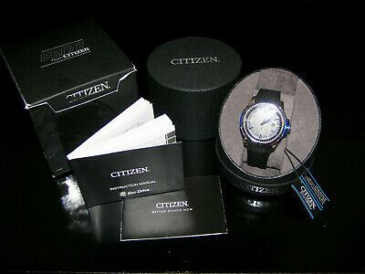 stunning! ECO DRIVE from CITIZEN Mens Black Band Wrist Watch