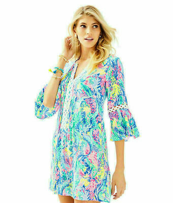 2afea7966df608 NWT LILLY PULITZER NEW $148 Multi Mermaids Cove Hollie Tunic Dress XS