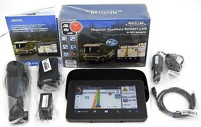 "NEW Magellan RoadMate RV9490T-LMB 7"" RV GPS Lifetime Map & Traffic 3D Car US/CAN"