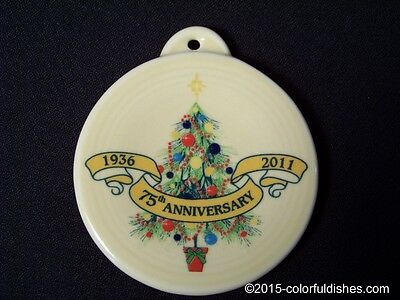 2011 Fiesta® IVORY Post 86 75th Anniversary CHRISTMAS TREE Ornament