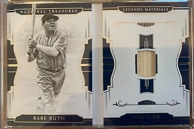 outlet store 612e3 40314 BABE RUTH GAME USED JERSEY & BAT CARD #d23/25 2018 NATIONAL ...