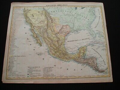1842 Flemming Map Republic of Texas United States Southwest Very Rare