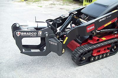Mini Skid Steer Loaders Tree and Shrub Grapple, Fits Toro, Ditch Witch, Vermeer