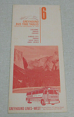 1958 CENTRAL GREYHOUND bus time table Chicago Omaha Kansas