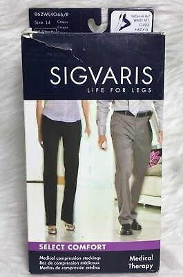 Sigvaris 862W Select Comfort 20-30 Right Leg Open Toe Waist Compression L4