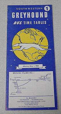 1946 SOUTHWESTERN GREYHOUND bus time table Chicago St Louis