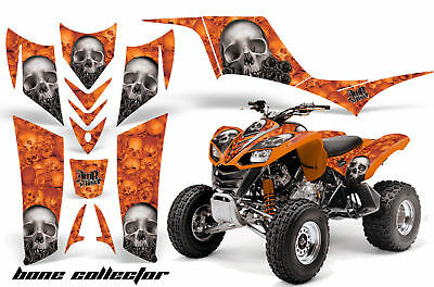 Suzuki LTZ400 2003-2008 Graphic Kit ATV Quad Decals Sticker LTZ 400 FLAMES ORANGE
