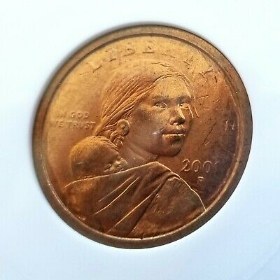 RARE 2000-P SACAGAWEA $1 Dollar ANACS MS 62 Mint Error Coin Struck