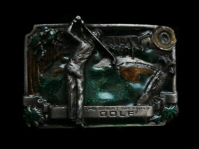 Ne07123 Vintage 1985 **The Great Sport Of Golf** Sports Bergamot Belt Buckle