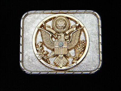 QD11124 *NOS* VINTAGE 1970s **SEAL OF THE UNITED STATES OF AMERICA** BELT BUCKLE