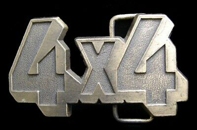 JK02140 REALLY COOL 1970s VINTAGE CUT-OUT **4 X 4** OFF ROAD TRUCK BELT BUCKLE