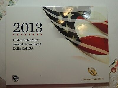 2013 ANNUAL UNCIRCULATED DOLLAR COIN SET Milk Spots!!!