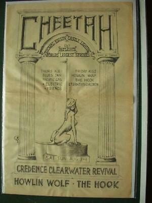 Creedence Clearwater Revival Howlin Wolf 1968 Concert Ad Newspaper Poster