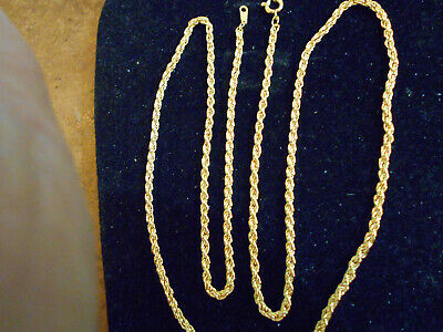bling gold plated FASHION JEWELRY 4mm 24inch long rope chain necklace hip hop GP