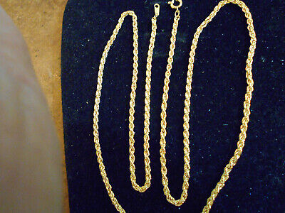 bling gold plated bonded 24 inch rope chain fashion  necklace hip hop jewelry GP