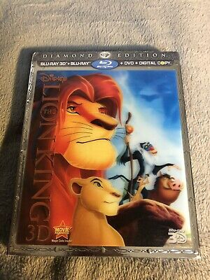 The Lion King (Blu-ray/DVD, 2011, 4-Disc Diamond Edition Disney Movie No Code