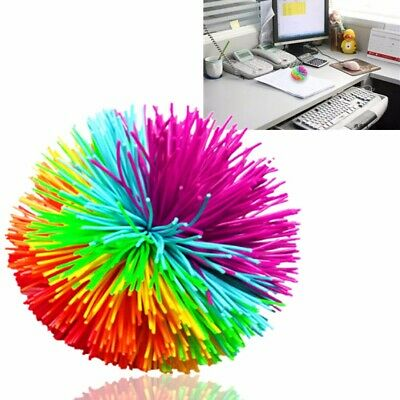 8cm Anti Stress Colorful Mondo Koosh Ball Fidget Sensory Kids Stretchy Ball Toy