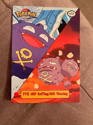 Pokemon TV Animation Edition #TV13 Koffing #109 Weezing #110 Card