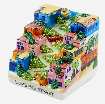 Lombard Street San Francisco California Travel Glass Christmas Ornament 110133