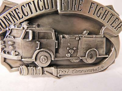 Six  Vintage Fire Department Belt Buckles