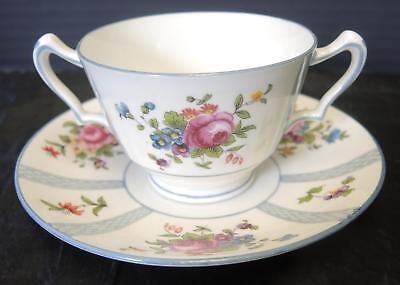 Antique Crown Staffordshire Henry Birks & Sons Bouillon Cup & Saucer