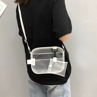Fashion Women Clear Tote Bag PVC Handbag Shoulder Transparent Beach Clutch Purse