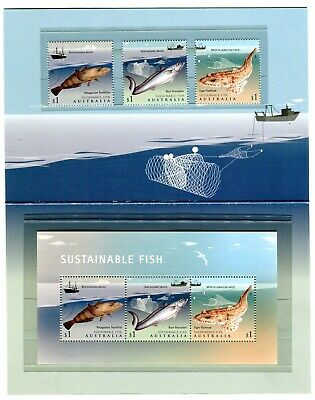 2019 Sustainable Fish - Post Office Pack With Stamps & Mini Sheet