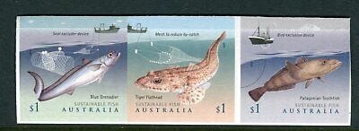 2019 Sustainable Fish - MUH Strip of 3 Booklet Stamps