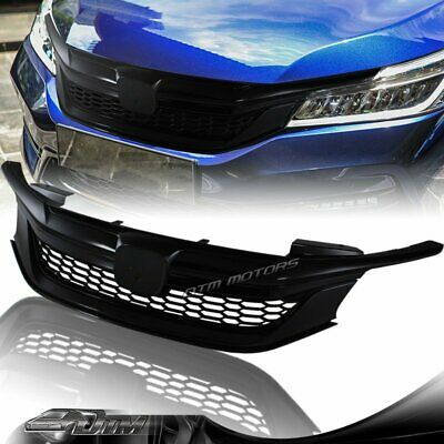 Sport Style Gloss Black Front Hood Grille Grill For 2016 2017 Honda Accord Sedan