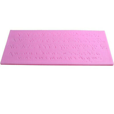 DIY Decorating Silicone Russian Alphabet Letter Fondant Candy Baking Mold BS